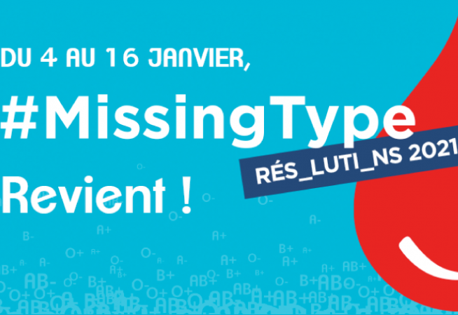 Visuel campagne don du sang #MissingType 2021